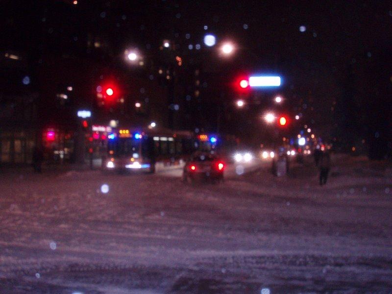 Street Corner in SnowStorm