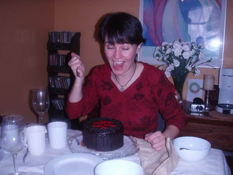 Sometimes, cake must be subdued.